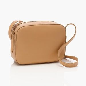 J. Crew Marlo Crossbody Leather Bag Natural